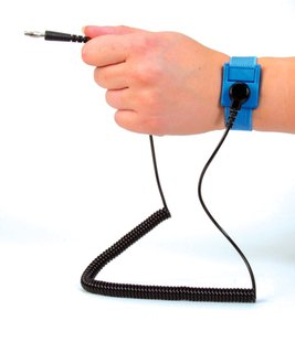 Premium Wrist Strap & 12ft Coiled Lead (10mm to 10mm) (£2.80 Ex. VAT)
