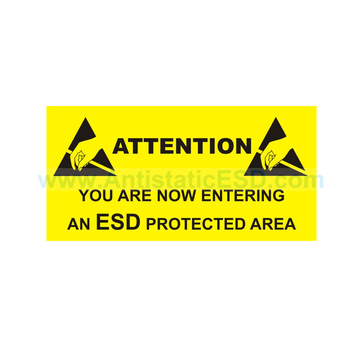 Esd Protected Area Round Sign Anti Static Esd Anti