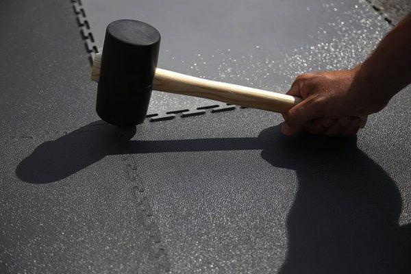 Garage Flooring | 7mm Black Interlocking PVC Garage Floor Tiles - Heavy Duty Industrial Flooring
